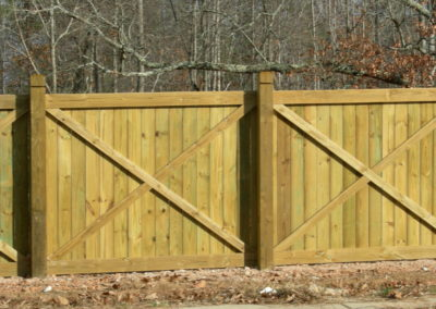 X-Brace Privacy Fence Marietta