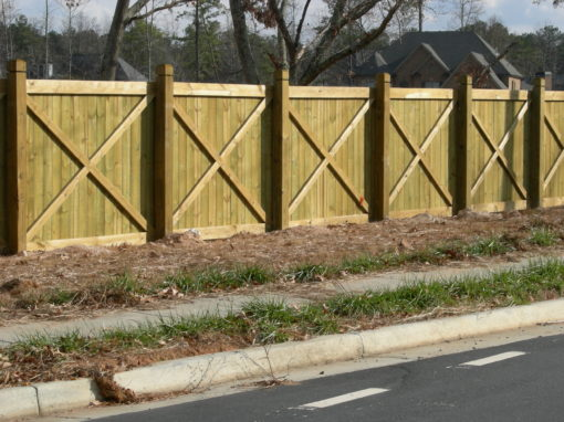 X-Brace Privacy Fence