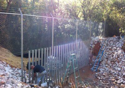 Dobbins Creek Crossing Security Fencing (2)