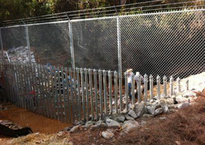 Creek Crossing Security Fencing - Marietta