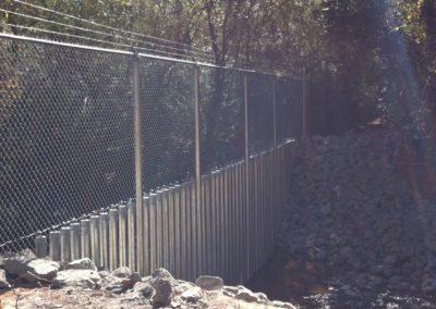 Creek Crossing Security Fencing – Marietta