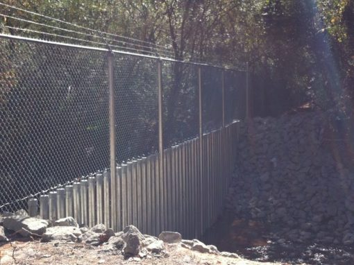 Creek Crossing Security Fencing – Marietta