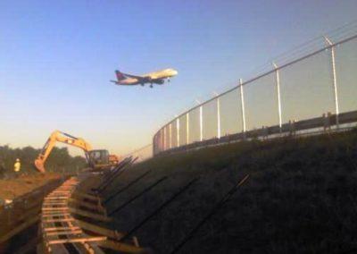 Hartsfield Jackson International Airport Temp fence