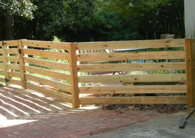 horizontal rail fencing in buckhead