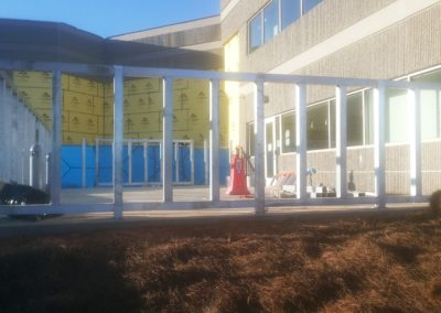 Commercial Aluminum and Composite Privacy Screen - Suwanee