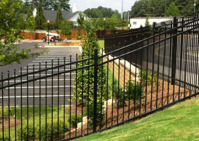 Commercial Student Housing Perimeter Fencing - Kennesaw