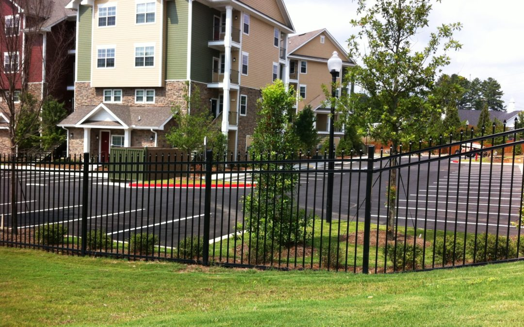 Commercial Student Housing Perimeter Fencing – Kennesaw