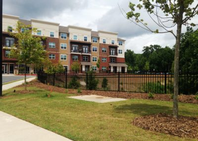 metal fencing for student housing in atlanta