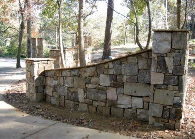 Stone Column Wall Driveway Automatic Gate (5)