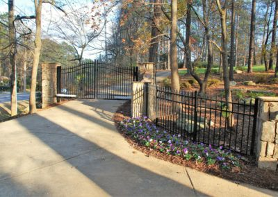 Automated Gate System with Stone Walls and Columns – Woodstock
