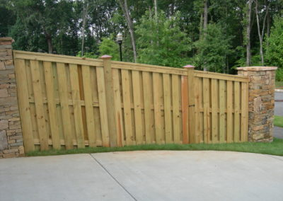 Wooden Privacy Fence with Copper (2)