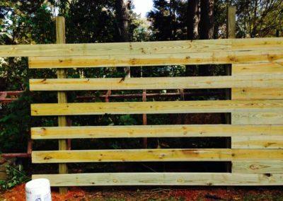Horizontal Wooden Privacy Fence - Atlanta