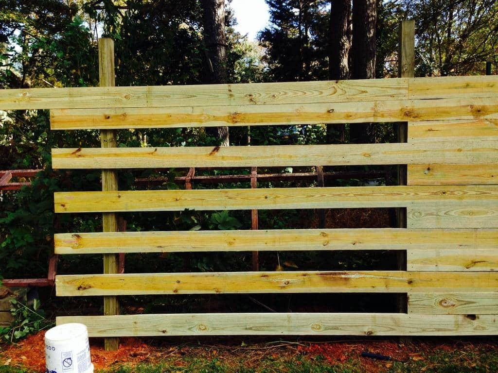 Horizontal Wooden Privacy Fence - Atlanta - Apex Fence Company