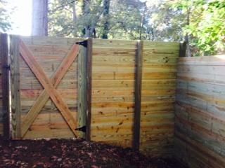 Horizontal Wooden Privacy Fence – Atlanta