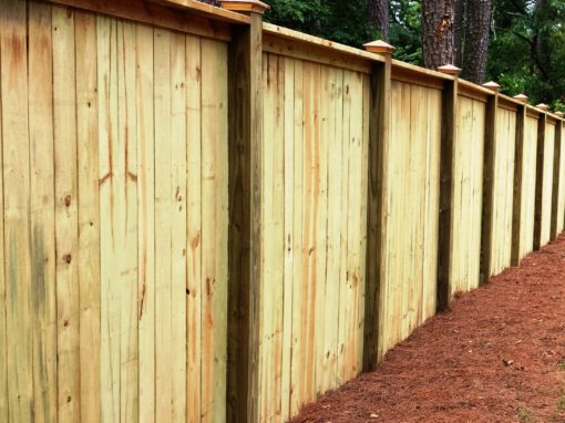 Capped Privacy Fence – Milton GA