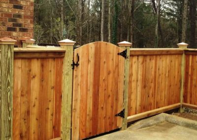 Cedar Privacy Fence Atlanta