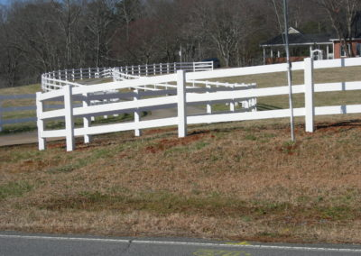 white vinyl ranch rail fencing (1)