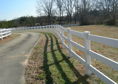 white vinyl ranch rail fencing (5)