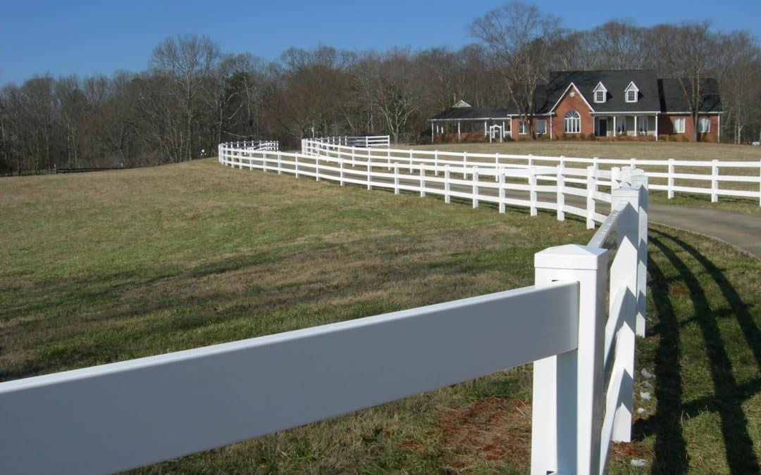 White Vinyl Ranch Rail Fencing – Cobb County