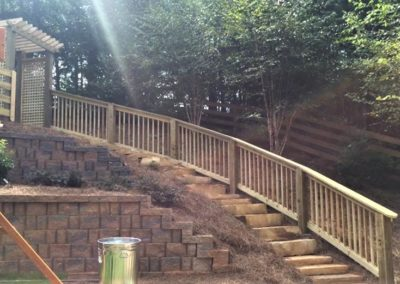 fence rail down stairs atlanta