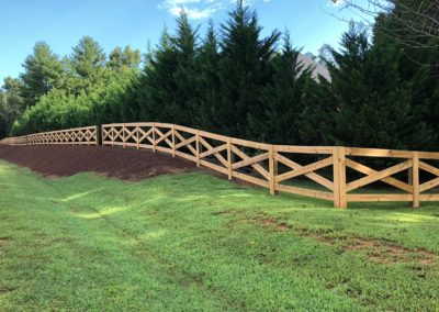 ranch rail fence corner atlanta