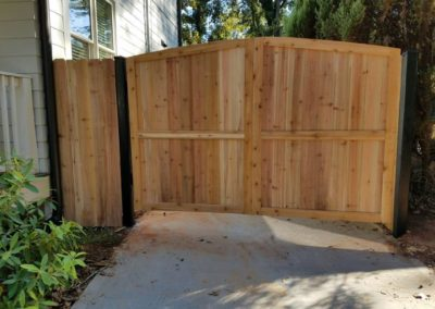 custom wooden fence gate
