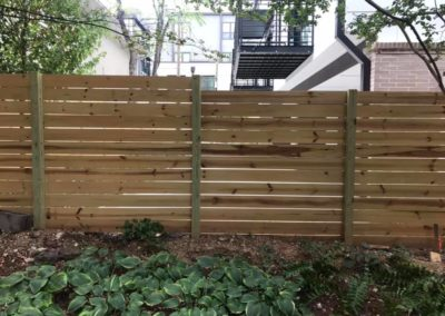 horizontal slat fence atlanta